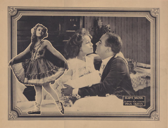 A lobby card from one of Gladys Walton's first films, Pink Tights.