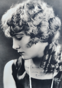 Lucille Ricksen signed this portrait for her father.