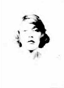 Mae's passport photo, 1920