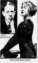 Mae and her first husband William Schwenker