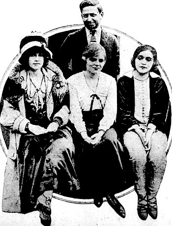 Fannie Ward, Blanche Sweet, and Mae Murray