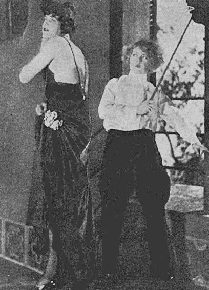 Mae and Vincent Coleman clowning around on the set of Fascination.  The two actors switched roles. The story is in the book.