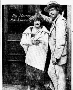 Mae and Bob Leonard at their new production facilities in 1921.