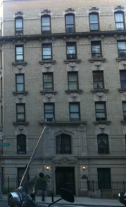 The Schwenker's fashionable apartment building at 550 Riverside Drive.
