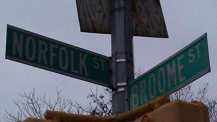 Mae was born at the corner of Broome and Norfolk.