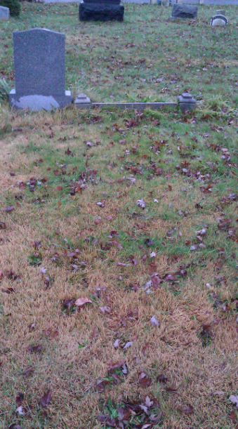 A cemetery guide took us to the spot where Mae's immediate family are buried.