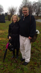 Cee Cee and Michael at the Koenig grave plots.