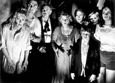 Stella with the cast of The Poseidon Adventure (1972).