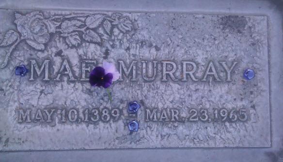 Mae's marker at Valhalla.