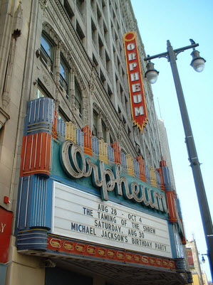 The Orpheum Theater in modern times.