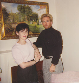 Eve and Michael at the Iroquois Hotel in 1995.