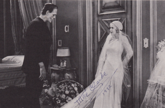 With Boris Karloff in Frankenstein (1931).
