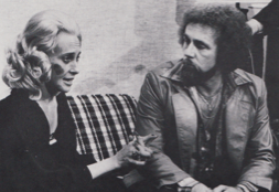 A battered Tammy Wynette with George Richey, her husband after Jones.