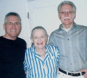 Joel Bellagio (Scott's partner), Jetti Preminger, and Scott during his research for his Kay Francis biography.
