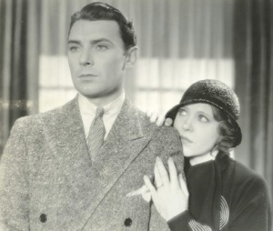 Ruth Chatterton and George Brent, the subject of Scott's next book.