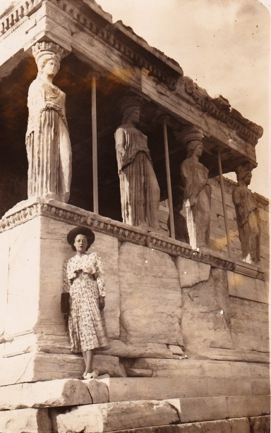 Madeline Hurlock Sherwood in Greece, 1937 or '38.