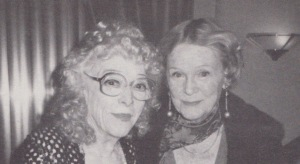 Madge (L) with Gloria Stuart
