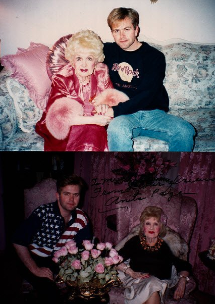 The bottom photo is the night we sat up into the wee hours of the morning talking about Anita's Hollywood. The top photo is from another visit.