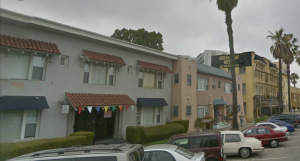 While working at Balboa, Corenne lived in this apartment house at 47 Lime, Long Beach