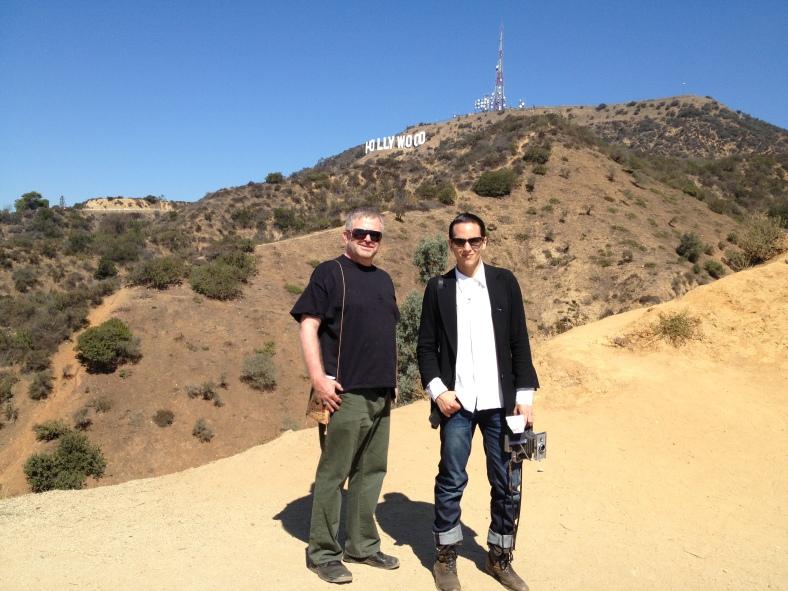 Michael and Chris on the Hollyridge Trail
