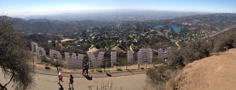 The Hollywood Sign from above