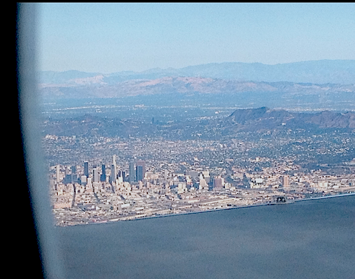 Los Angeles from the air, 2013