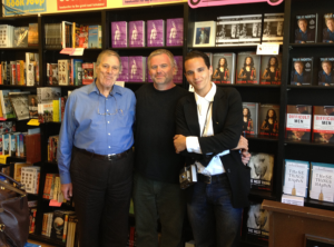 Here I am at the booksigning with Chris and Miles Kreuger. Miles knew Mae and provided the anecdote that opened Mae Murray: The Girl with the Bee-Stung Lips.