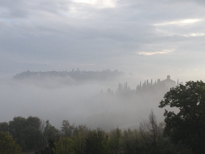 Orvieto in the fog