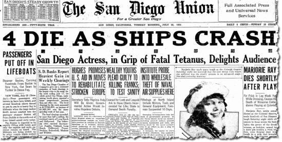 Marjorie's death made headlines in San Diego