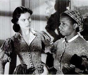 Vivien Leigh and Butterfly McQueen (as Prissy) in Gone With the Wind