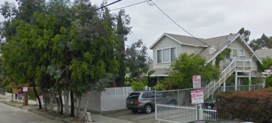 The Noble Sheldons lived at this house at 4537 Prospect Avenue in the Los Feliz area of Los Angeles.