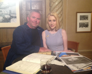Michael and Amy after the filming of our scene