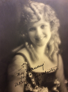 "Mary Miles Minter signed this photo to ""My Mammy"""