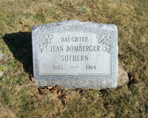 Jean Sothern's final resting place
