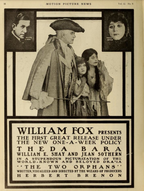 Jean played the blind orphan in The Two Orphans