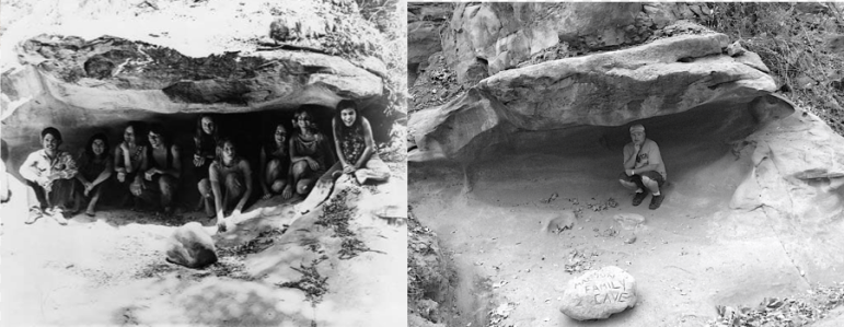The Cave, then and now