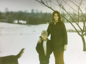 Mom and me in a rare Georgia snowfall