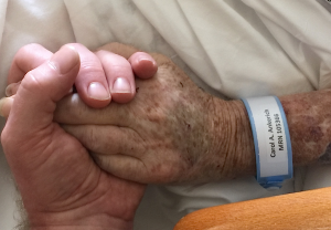 Holding Mom's hand