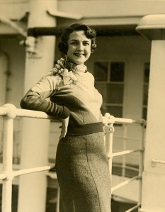 Sally onboard the Ile De France in 1933