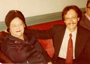 Sally and Bob, October 1977, the night Sally was honored with a Rosemary Award